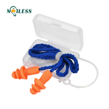 hot selling custom ear plugs silicone corded earplugs