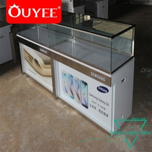 China Factory Sale Fancy Wooden Glass Store Mobile Display Cabinet Cell Phone Showcase