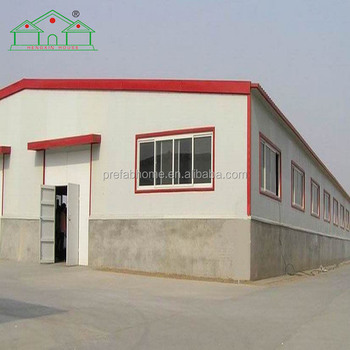 Steel construction real estate sandwich panel warehouse and workshop