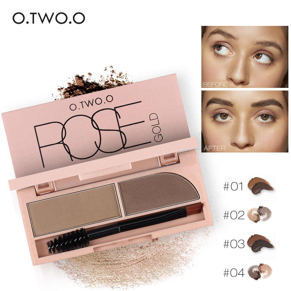 O.TWO.O 2 Colors Eyebrow Kit Waterproof Eyebrow Powder 3007