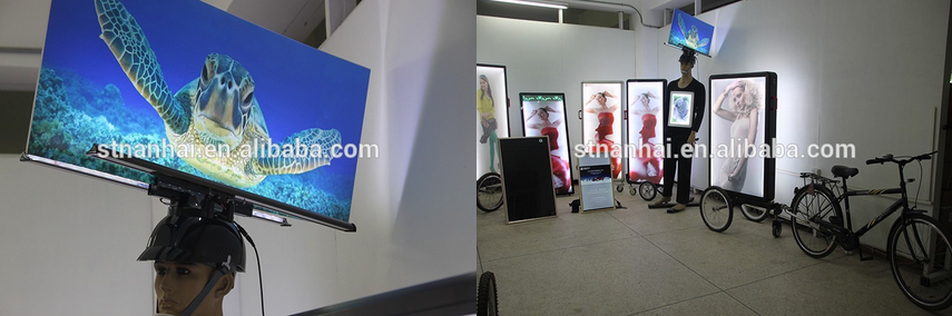 J1D-027 Slim walker boards led floor sign with lithium battery