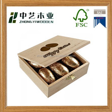 Wholesale High quality eco-friend custom design wood chocolate box empty gift box for chocolate