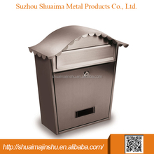 Hot selling custom 360*135*370 stainless steel free standing stainless steel mailbox