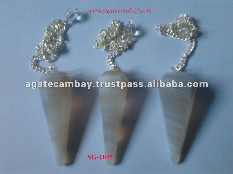 Wholesale Indian Lace Agate Pendulums