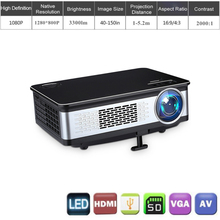 3d movie projector 3300 high lumen daylight projector for christmas