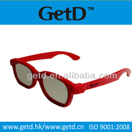 Cinema and TV used plastic 3d passive polarized glasses