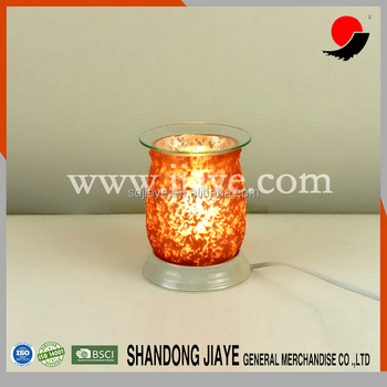 New Design Red Colored Round Electric Glass Aroma Tart Warmer Lamps