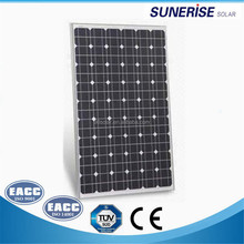 China factory 12v/18v monocrystalline 200watt photovoltaic solar price