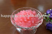 nata de coco, strawberry jelly