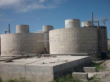Puxin biogas digester plant septic tank with gas generator for Septic tank fumes in house