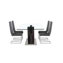 Modern Design modern stainless steel dining table designs coffee bar tables