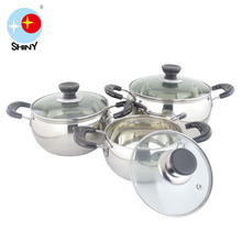 SHINY B043A Kinox cookware with vision glass lid