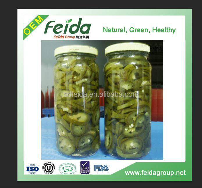 good price 473ml Canned Green Jalapeno Slices Factory