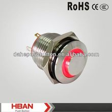 CE ROHS push button mini switch on off