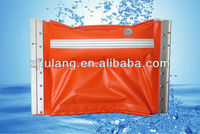 Rapid response inflatable PVC oil containment fence boom
