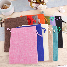 14*19cm 12Colors Mixed Color Candy Bags Wedding Party Favor Vintage Natural Burlap Gift Pouch Jute Party Bag