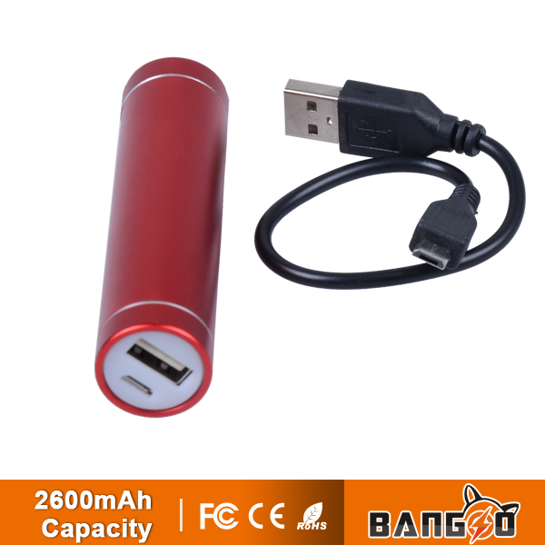 new design Portable chargers Power Bank 2600mAh for Digital products