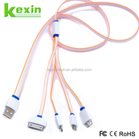 Hot Selling 4 in 1 Multi USB Cable Charger Fast Charging Flat Micro USB Cable