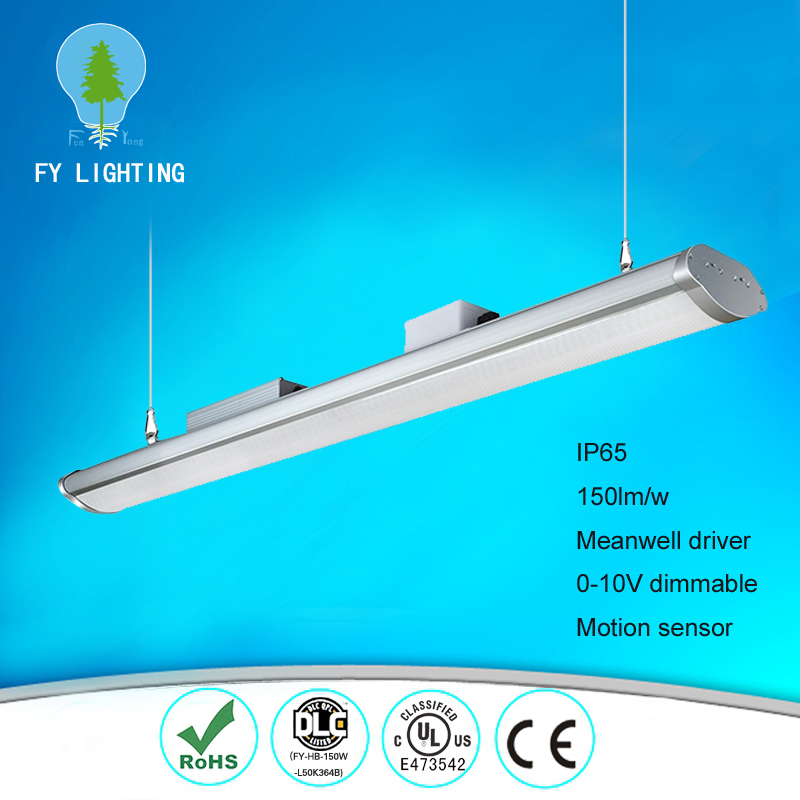 Hanging install Warehouse ul industrial 120w 150w IP65 high bay linear led light