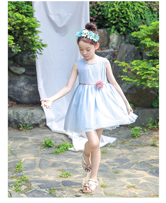 Letest design summer children's wear lace princess skirt
