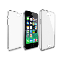 Shockproof 360 Degree Front and Back TPU Gel Flexible Protective Transparent Case Cover For iPhone SE 5S 5
