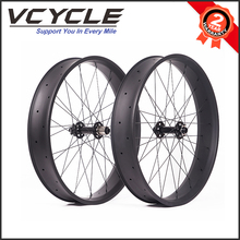 VCYCLE 700C 100mm Width 25mm Depth Fat Bike Bicycle Hookless Carbon Fiber Wheel 100mm Width