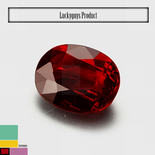 High quality red ruby 8*10mm oval shaped natural loose natural gems