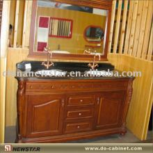Double sink bath vanity with Shanxi black vanity top