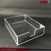 clear acrylic desk tray plastic file tray letter tray desk tray square acrylic tray desk paper tray acrylic letter tray for A4
