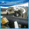 Normal speed and running stability single wall PE corrugated pipe making machine