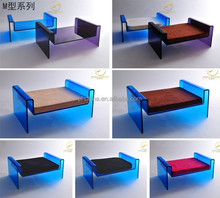 Fancy design custom made free design red/blue/purple acrylic pet cat bed dog bed
