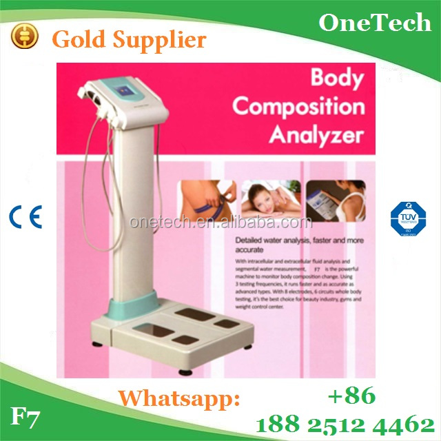 Faster and more accurate body composition analysis machine / water&fat evaluating system easy data management analyzer price F7