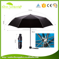 Black gel pongee UV protect special umbrellas for promotion