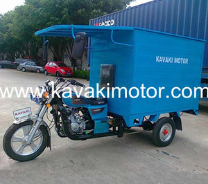 KAVAKI Three Wheeler 150cc-200cc Enclosed Cargo Motorcycle&Tricycle