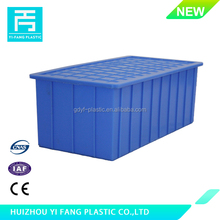 New Product Stackable Transportation HDPE plastic storage box with lid