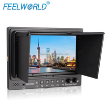 "FEELWORLD 7"" IPS 1024x600 Lightweight hd-sdi audio monitor for broadcasting"