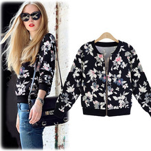 New Style Flower Printing Small Sweet Wind Coat