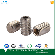 China manufacturer supply slotted security set screws