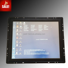 high resolution 17 inch wall mounting/embedded full hd advertising monitor,open frame monitor with single touch panel