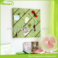 Different Colors Ribbon Green Fabric Board