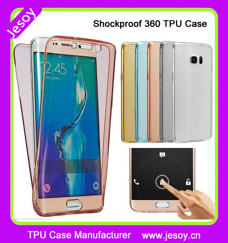 JESOY Shockproof 360 Silicone Protective Clear Case Cover For Samsung Galaxy J3 2016