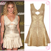 New look dresses golden bandage dress for 2016 year