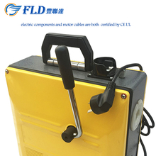 China manufacture yellow cheap heavy duty electric manual drain pipe cleaning machine
