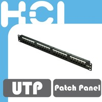 24-Port Cat 6 Unshielded UTP Station ID Modular Patch Panel