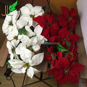 Long Stem Christmas Silk Flowers Christmas Ornaments for Christmas Decoration with High Quality