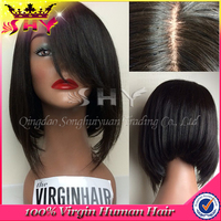 Wholesale bob style human hair short brazilian hair full lace wig for black women