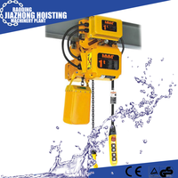 2.5ton OEM Design japan style stationary type electric chain hoist from China manufacturer