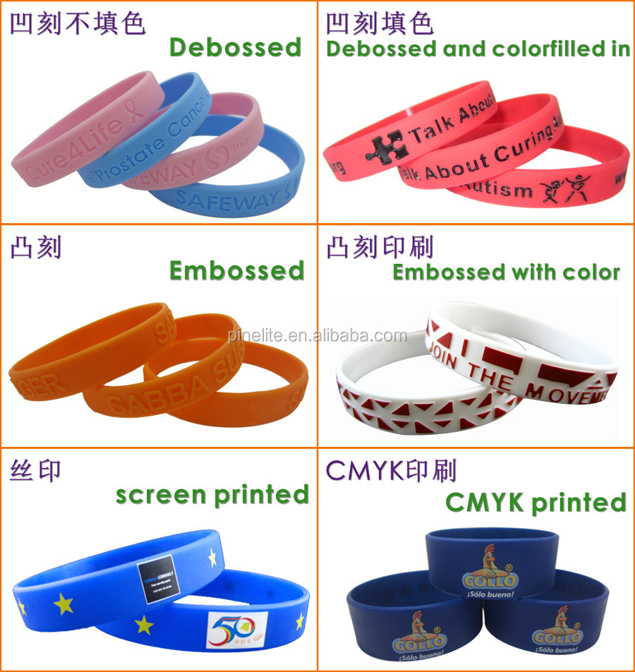 Free Sample Silk Screen Printing Bracelet Rubber,personalized Silicone  Wristband Unit