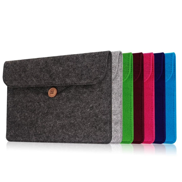 Alibaba supplier new fashion high quality customized grey felt 15.6 inch laptop sleeve with your logo