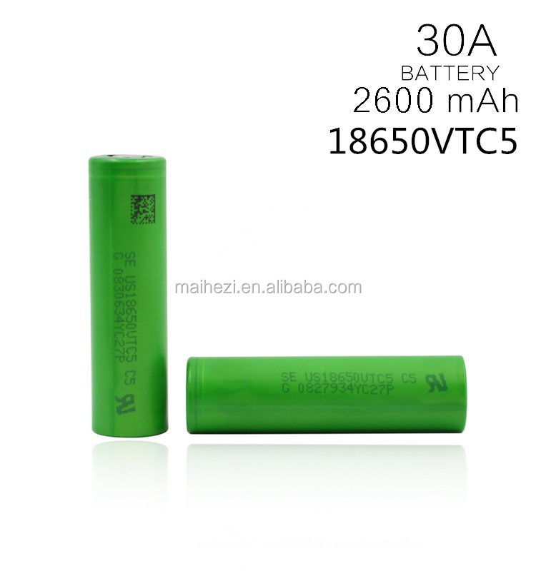original 18650 li-ion batterie us18650v 3.7V 2600mah rechargeable battery us18650vtc5 for vape